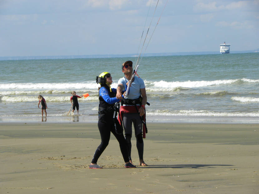 Initiation au Kite Surf,face à l'Angleterre